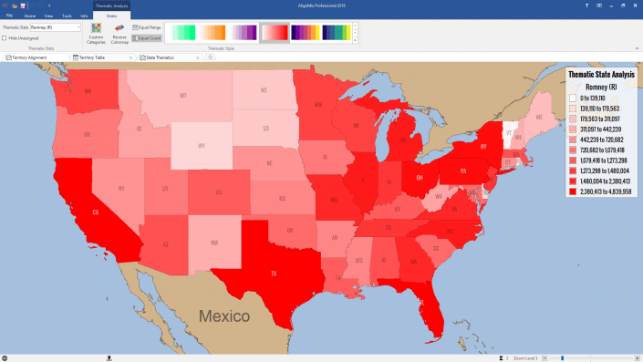 Thematic Analysis of Romney Votes 2012
