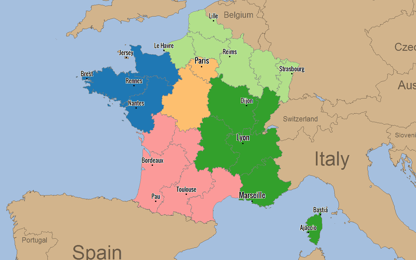 France Districts